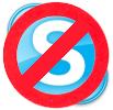 Verboden voor Skype