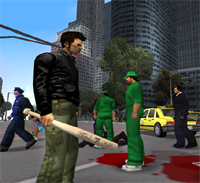Grand Theft Auto III - screenshot met baseball bat