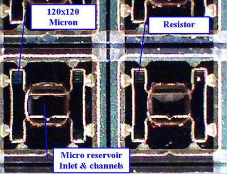 Close-up van de 1000 ppm inktjetprinter