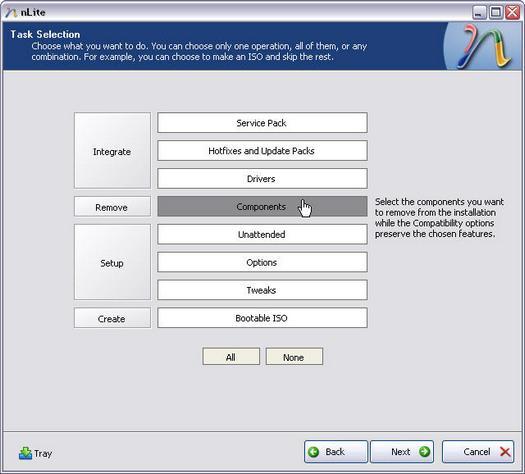 nLite 1.2.0 beta screenshot (resized)