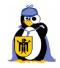 Tux met vergrootglas en München-wapen