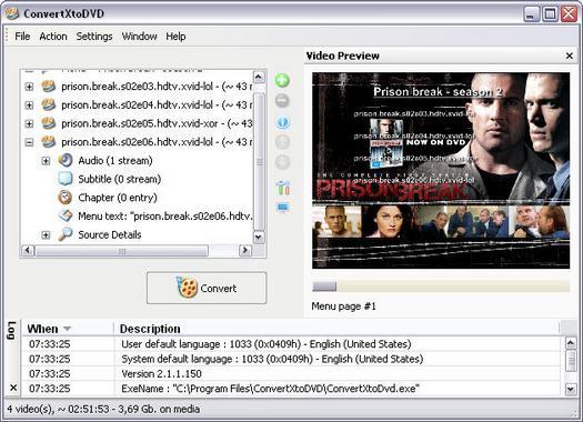 ConvertXtoDVD 2.1.1.150 screenshot (resized)
