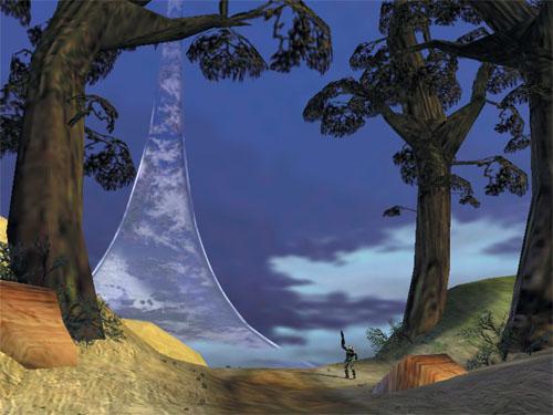 De ringvormige Halo-wereld