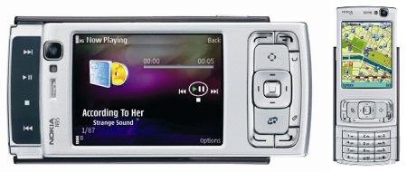Nokia N95 liggend (groot), staand