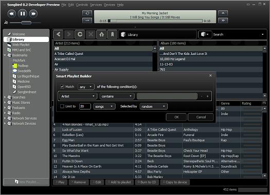 Songbird 0.2 beta (klein)