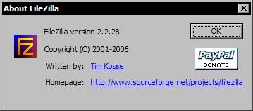 FileZilla 2.2.28 - about