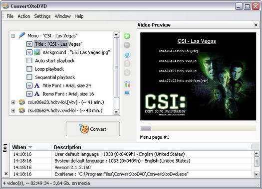 ConvertXtoDVD 2.1.3.160 screenshot (resized)
