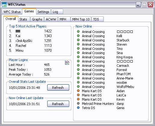 WFCStatus 1.3.6 screenshot