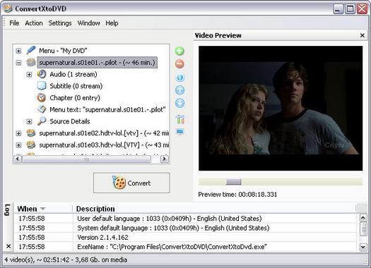 ConvertXtoDVD 2.1.4.162 screenshot