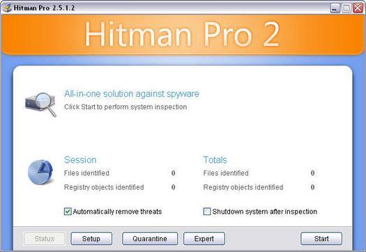 Hitman Pro 2.5.1.2 screenshot (resized)