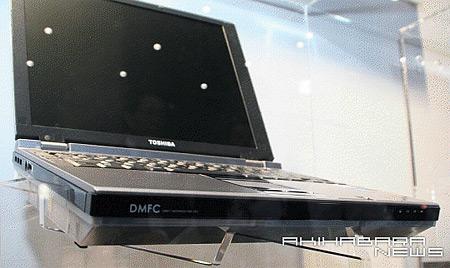 Toshiba-notebook met brandstofcel
