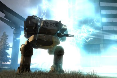 Battlefield 2142 Screenshot met Mech