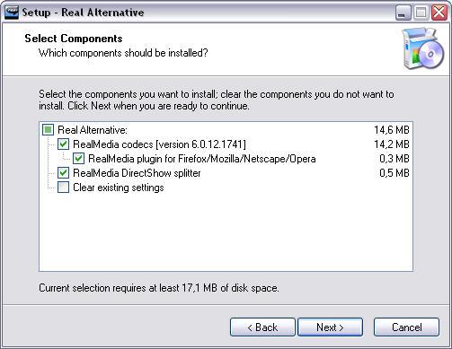 Real Alternative 1.51 Lite screenshot