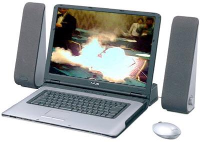 Sony Vaio-laptop met brandende Dell in beeld