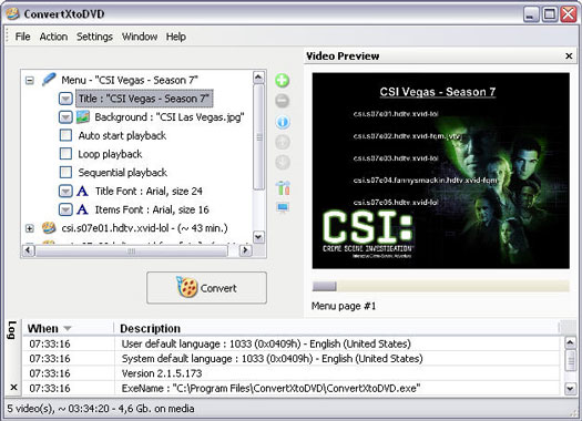 ConvertXtoDVD 2.1.5.173 screenshot (resized)