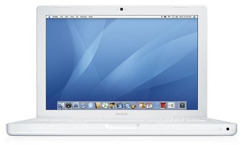 Apple MacBook white - vooraanzicht