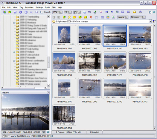 FastStone Image Viewer 2.9 beta 1 screenshot (resized)