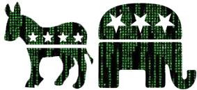 Matrix-versie logo's Amerikaanse partijen