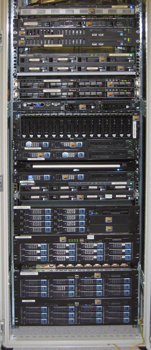 Complete onderkant van het rack 06-11-2006