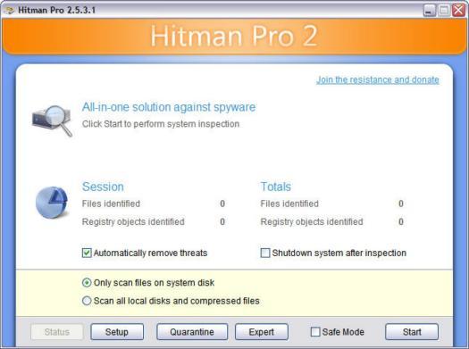 Hitman Pro 2.5.3 screenshot (resized)