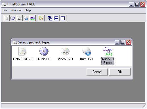 FinalBurner 1.5.0.36 screenshot
