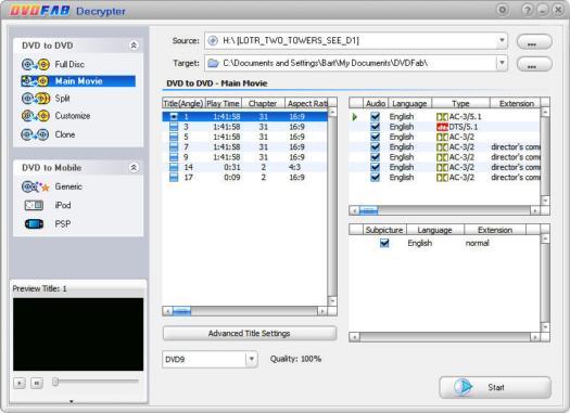DVDFab Decrypter 3.0.4.0 screenshot (resized)