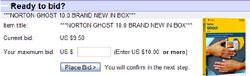 eBay veiling Norton Ghost