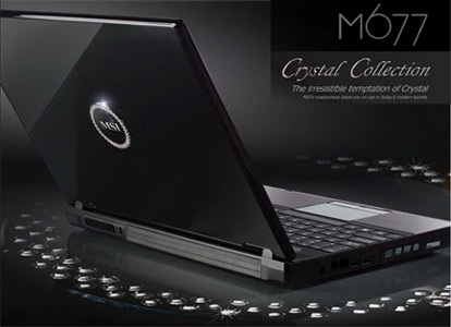 MSI M677 Crystal Laptop
