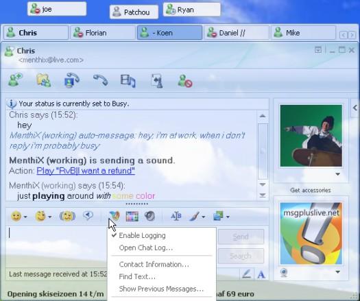 Windows Live Messenger na aanpassing met Messenger Plus! Live (resized)