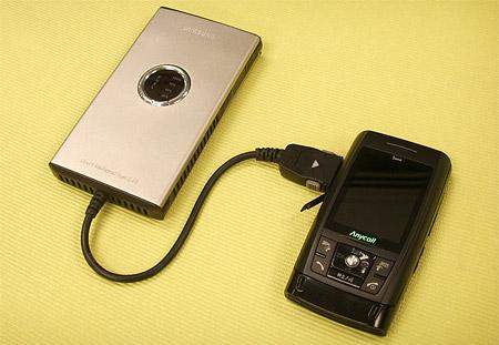 Mobiele telefoon oplader met brandstofcel