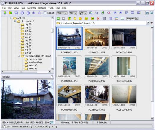 FastStone Image Viewer 2.9 beta 2 screenshot (resized)