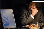 Vladimir Kramnik speelt tegen Deep Fritz