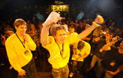 Juichende Andries Smit na overwinning