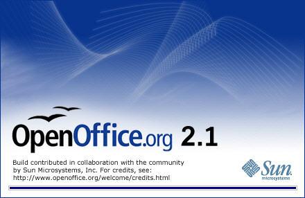 OpenOffice.org 2.1 welkomsscherm