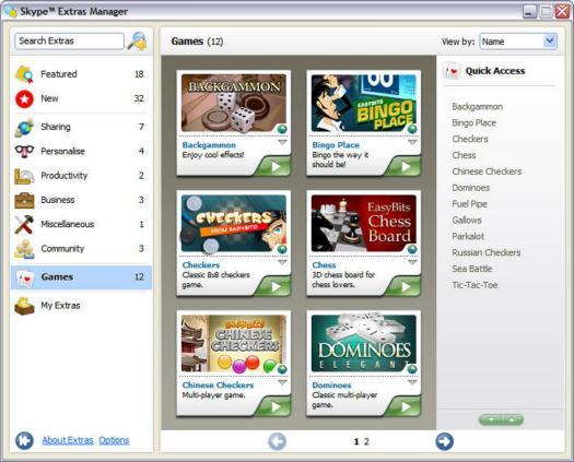 De Extras Manager in Skype voor Windows 3.0 (resized)