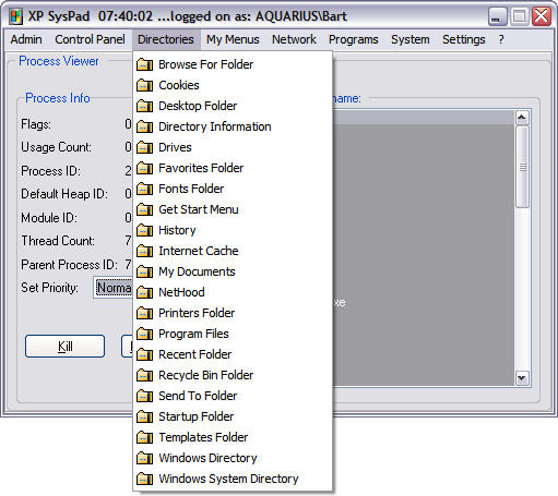 XP SysPad 7.7 screenshot