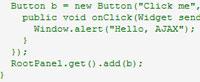Google Web Toolkit code