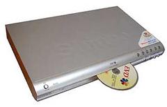 Evd-speler met disk