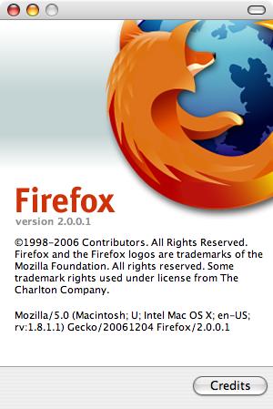 Mozilla Firefox 2.0.0.1 - about