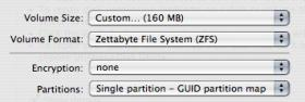 Zettabyte File System in Mac OS X