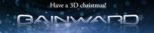 Gainward-logo in kerstsfeer