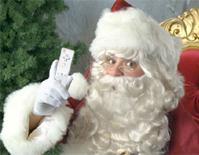 Kerstman met Wiimote