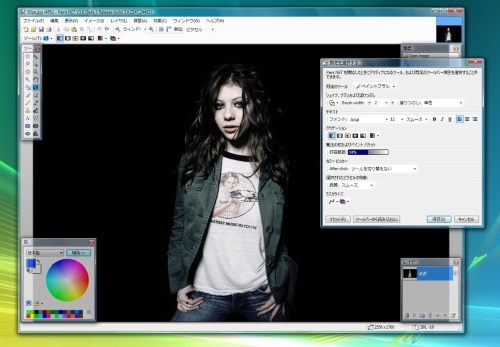 Paint.NET 3.0 bèta 3 in het Japans (kleiner)