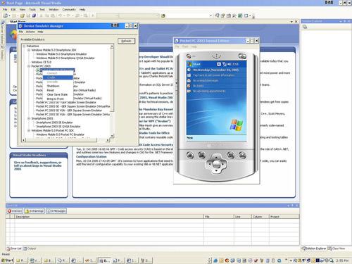 Microsoft Visual Studio 2005 screenshot