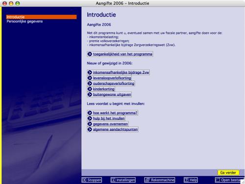 Belastingdienst Aangifteprogramma 2006