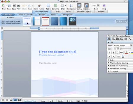 Office 2008 for Mac - Word (kleiner)