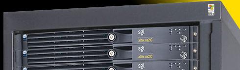 SGI-server met 'Designed for Windows XP'-sticker