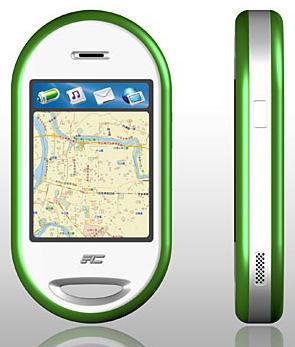 FIC Neo1973-smartphone (voor- en zijaanzicht)