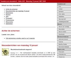 T.net-nieuwsbrief gerenderd in Outlook 2003