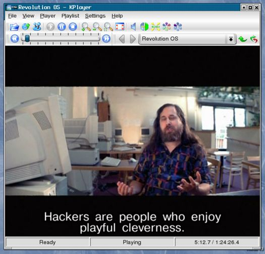 KPlayer - Richard Stallman over hackers